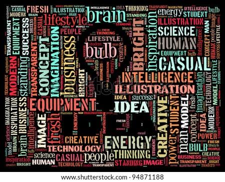 Idea info text design and arrangement concept. - stock photo