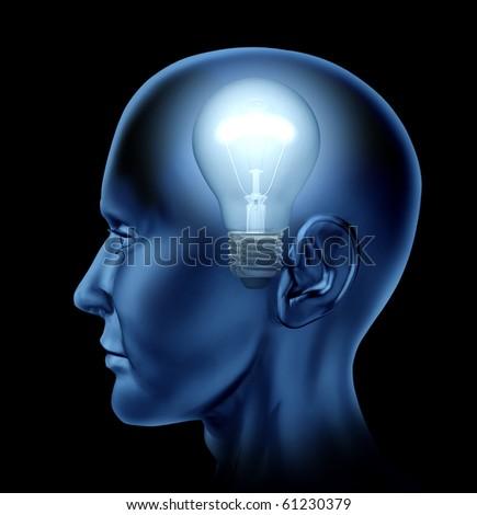 Idea inventor Brain mind intelligence - stock photo