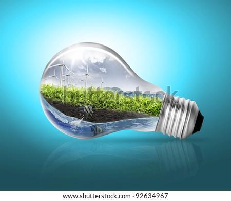 Idea ,light bulb - stock photo