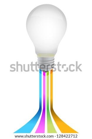idea light bulb illustration design over a white background - stock photo