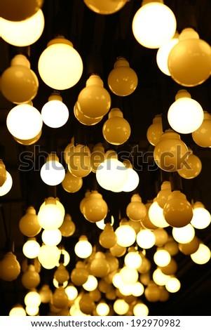Idea lighting decoration, modern design - stock photo
