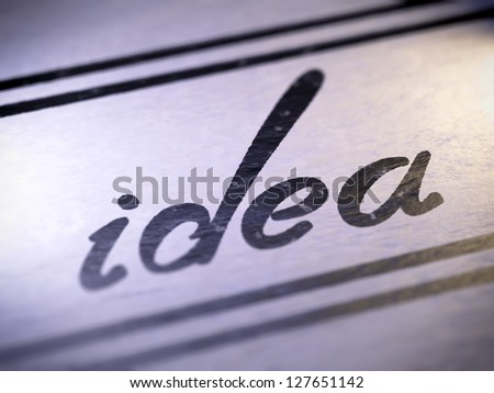 idea ( my own font )  Full collection of icons like that is in my portfolio - stock photo