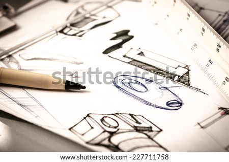 Idea Sketch Product Design Stock Photo 227711758 - Shutterstock