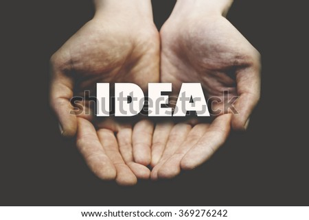 idea writing for man hand