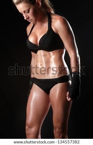 Ideal Fitness Body of a Woman Who Trains