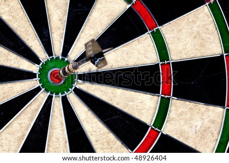 Ideal hit on bulls eye