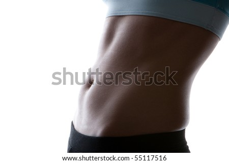 ideal sexy fitness body isolated white