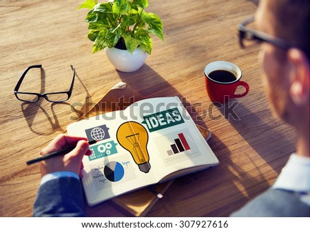 Ideas Creativity Graph Inspiration Thoughts Internet Concept - stock photo