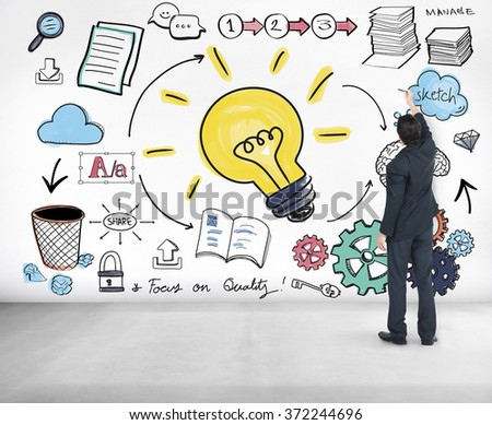 Ideas Learning Strategy Plan Teamwork Concept - stock photo