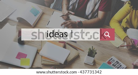 Ideas Proposition Strategy Suggestion Vision Concept - stock photo