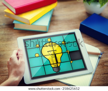 Ideas Puzzle Problem Solving Inspiration Creativity Concept - stock photo