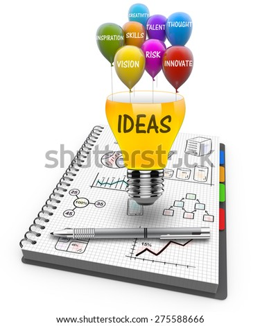 Ideas, skills and knowledge as a concept - stock photo