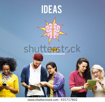 Ideas Strategy Thoughts Vision Objective Concept - stock photo
