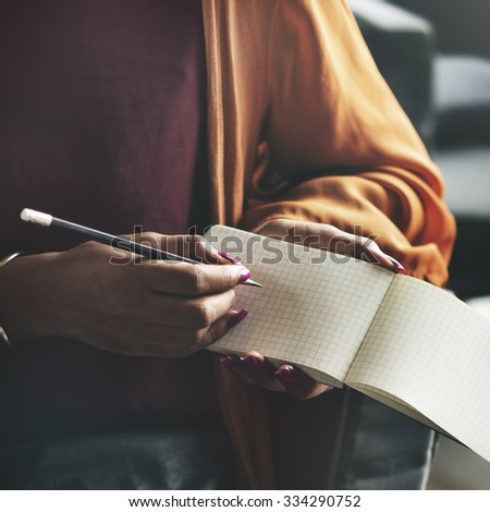 Ideas Writing Thinking Diary Connection Concept - stock photo
