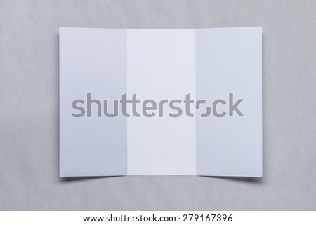 Identity Design, Empty Tri-Fold Brochure  - stock photo