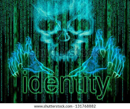 identity theft concept illustration - stock photo