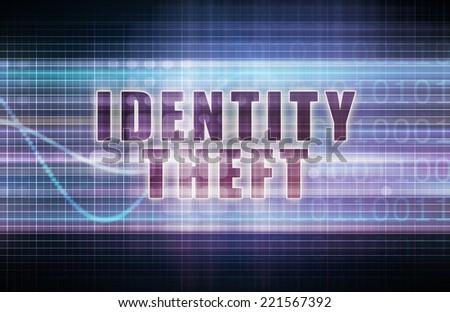 Identity Theft on a Tech Business Chart Art - stock photo