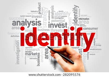 Identity word cloud, business concept - stock photo