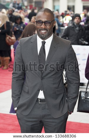 Idris Elba arriving for the The Prince's Trust Celebrate Success Awards 2013 at the Odeon Leicester Square, London. 26/03/2013 Picture by: Simon Burchell - stock photo