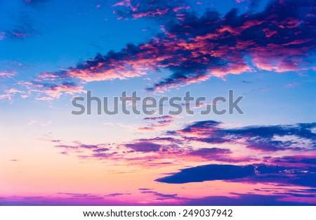 Idyllic Backdrop Fiery Heaven  - stock photo