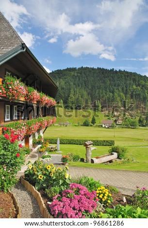 idyllic Black Forest in Germany - stock photo