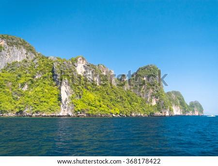 Idyllic Island Tranquil Bay  - stock photo