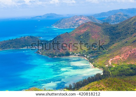 Idyllic Panorama Azure Bay  - stock photo