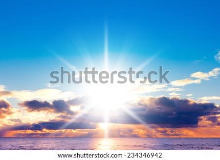Idyllic Paradise Early Morning  - stock photo