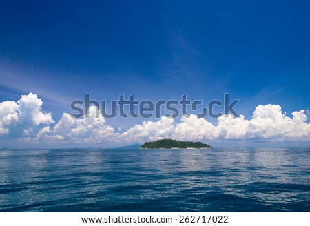 Idyllic Seascape Heaven On Earth  - stock photo