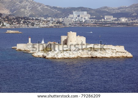 If Island and Monte Cristo castle in Marseille - stock photo