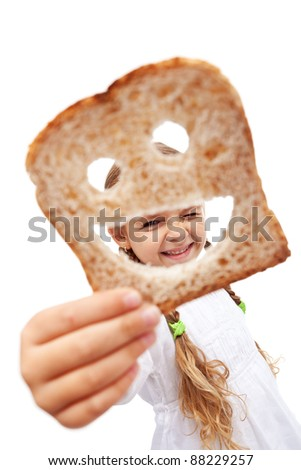 If you have plenty of food everyday you are richer than most people - stock photo