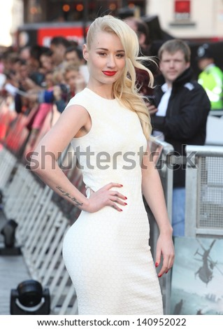 Iggy Azalea arriving for the World War Z World Premiere, at Empire Leicester Square, London. 02/06/2013 - stock photo