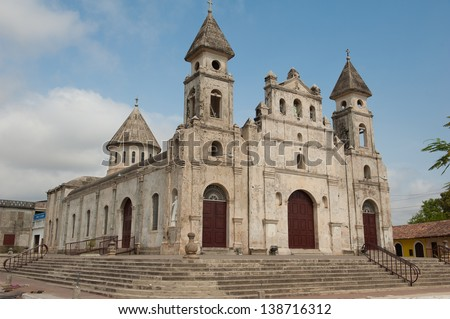 Iglesia de Guadalupe church in Granada, Nicaragua - stock photo