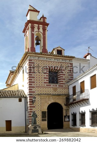 Iglesia de La Paz it one of the most beautiful baroque buildings of Ronda.  - stock photo