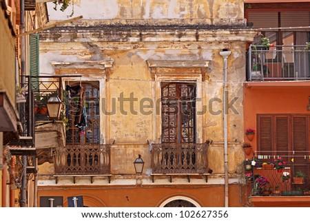 Iglesias, old part of town, Sardinia, Italy, Europe - stock photo