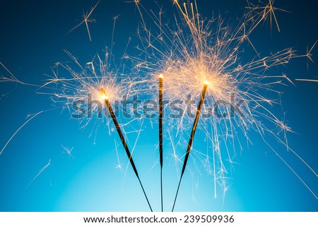 Ignited Sparklers - stock photo