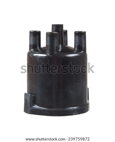 Ignition cover on a white background close up. The vertical arrangement. - stock photo
