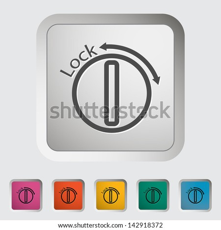 Ignition. Single icon. Vector version also available in my portfolio. - stock photo