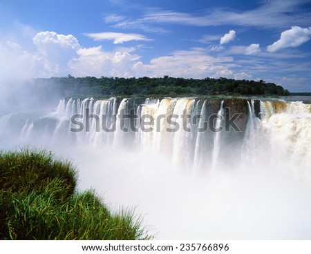 Iguassu Falls in Brazil, South America - stock photo