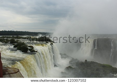 Iguazu Falls between Argentina and Brazil