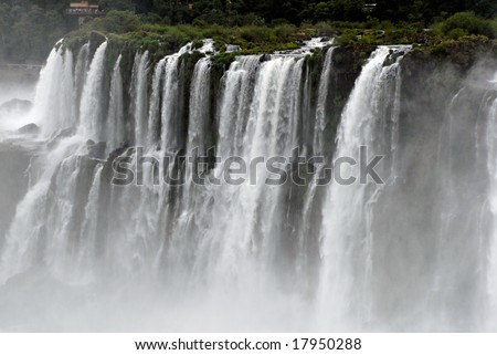 Iguazu Falls is the most visited place in Argentina. - stock photo