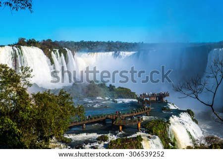 Iguazu water falls   - stock photo