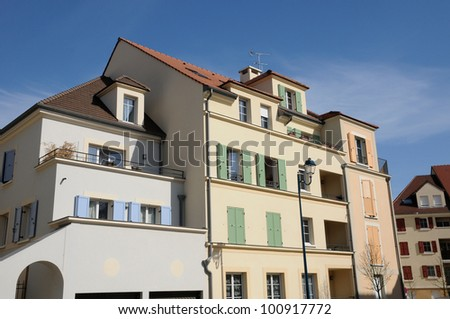 Ile de France, residential block in Vaureal