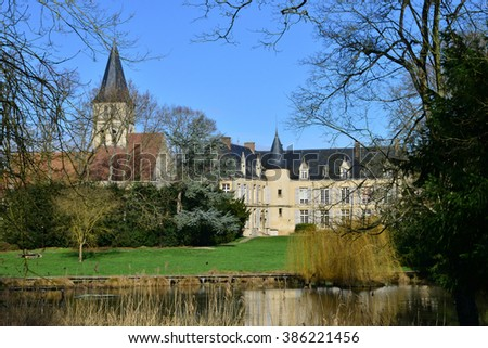 Ile de France, the picturesque castle of Themericourt