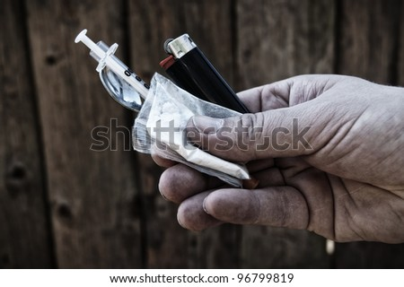 Illegal drugs sale - stock photo