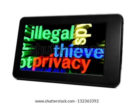 Illegal thieve privacy - stock photo