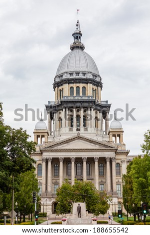 Illinois State Capitol Building, Springfield - stock photo