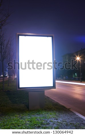 illuminated billboard at night