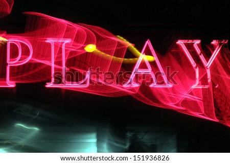 Illuminated Sign - stock photo