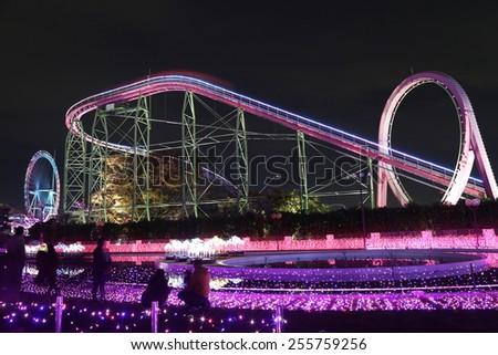 illumination of  Amusement park  - stock photo